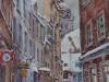 Зимний день в Риге. 2012г. б.акв. 65Х45 Winter day in Riga. 2012. b.akv. 65x45