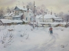 Зима в Ростове. 2015г., акварель на бумаге, 45Х60