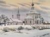 Зима в Суздале. 2005г. 45Х62