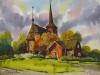 Церковь в Кристинестаде. 1993г. 45Х62