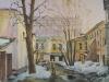 Московский дворик. Весна. 2003г. 42Х65