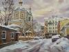 Москва. Зимний вечер. 2006г. 45Х65