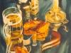 Пиво с раками. 2002г, акварель на бумаге, 65Х45