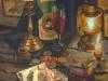 Испанский натюрморт. 2000г. б.акв. 65Х45