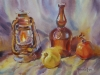 Натюрморт с керосиновой лампой. 2013г. б.акв.,45Х60