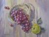 Виноград и яблоко. 2013г. б.акв. 45Х60