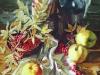 Рябина и яблоки. 2004г. 65Х45