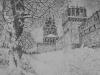 Зима в Новодевичьем. 2005г. 16Х22см