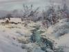 Зимняя речка. 2016, акварель на бумаге, 35Х50