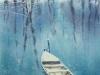 Пустая лодка 3. 2016г., акварель на бумаге, 55Х36 Empty boat 3. 2016., Watercolor on paper, 55Х36