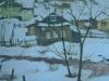 Зимний вечер. 2001г., акварель на бумаге, 65Х45
