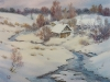 Зимняя речка. 2018г., акварель на бумаге, 49Х53