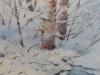 Зимний ручей. 2013г., акварель на бумаге, 54Х36