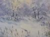 Зимний пруд. 2019г., акварель на бумаге, 49Х35