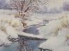 Зимняя речка 2. 2019г., акварель на бумаге, 53Х36