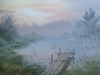 Вечерний туман. 2011г. б.акв. 45Х65