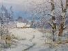 Первый снег. 2014г. б.акв. 34Х50