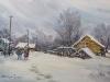 Зимний этюд. 2013г., акварель на бумаге, 35Х50