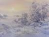 Зимнее утро. 2014г., акварель на бумаге, 35Х50