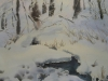 Зимний ручей. 1997г. 65Х43