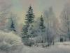 Зимний этюд. 2001г. 47Х61