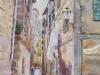 Улочка в Которе. 2015г., акварель на бумаге, 65Х45