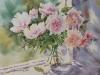 Пионы. 2013г., б.акв., 45Х65 Peonies. 2013, watercolor on paper.