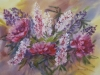 Пионы и люпины. 2011г. б.акв. 45Х60 Peonies and lupines. 2011. watercolor on paper 45Х60