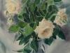 Белые розы. 2002г. 65Х45