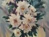Белые хризантемы. 2008г. 65Х45