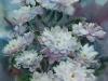 Белые хризантемы 3. 2004г. 65Х45